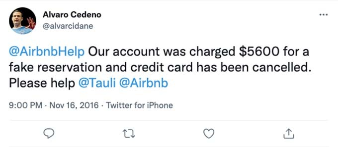 airbnb account hacked for $5,600