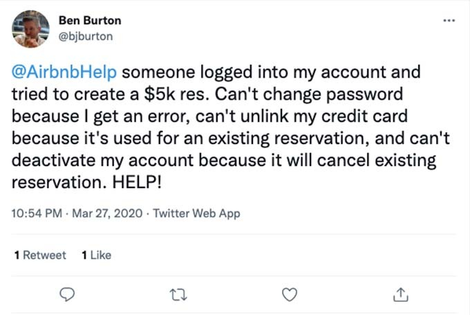 airbnb account hacked for $5,000