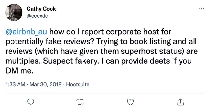 fake airbnb review
