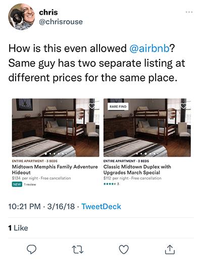 fake listing
