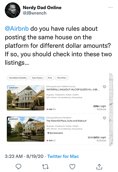 listing scam airbnb