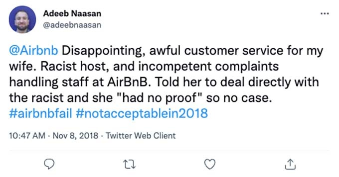 racism at airbnb