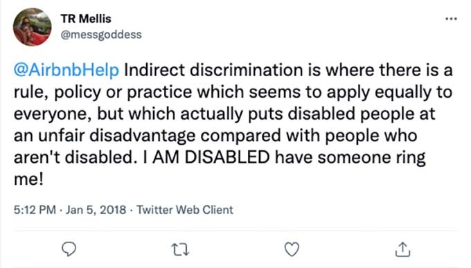 airbnb disability discrimination