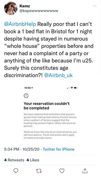 age based discrimination at airbnb