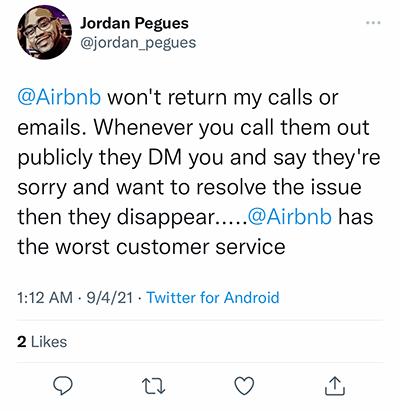 airbnb ghosting customers