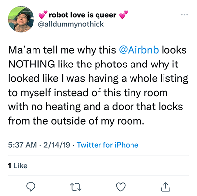 airbnb nothing like photos
