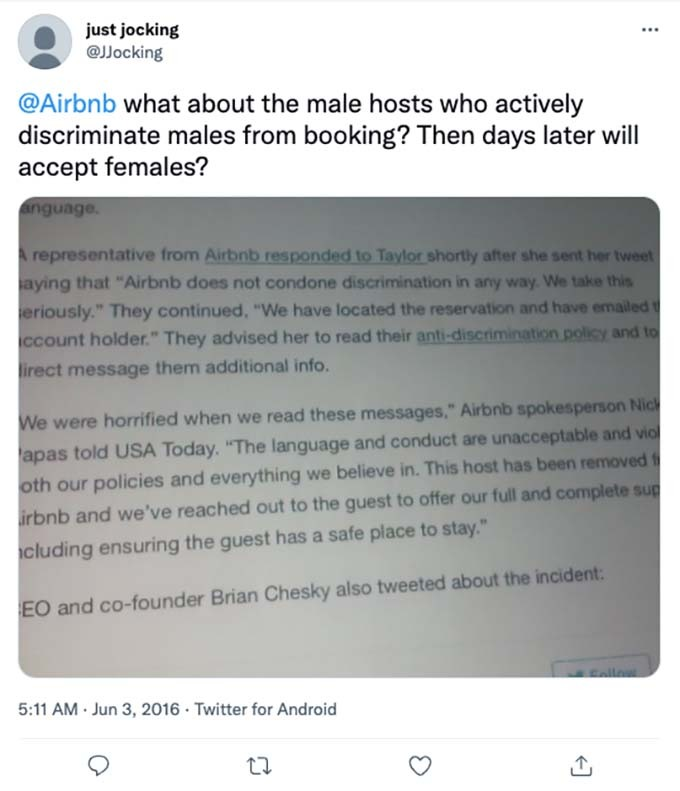 other types of discrimination at airbnb
